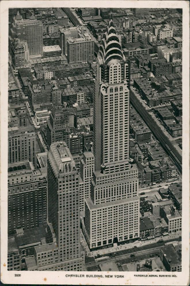 Postcard Manhattan-New York City Luftbild Chrysler Building 1930