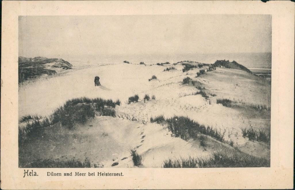 Postcard Hela Hel (kaschubisch: Hél) Dünen bei Heisternest 1917