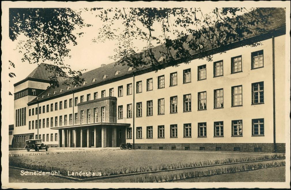 Postcard Schneidemühl Piła (miasto) Landesamt 1935