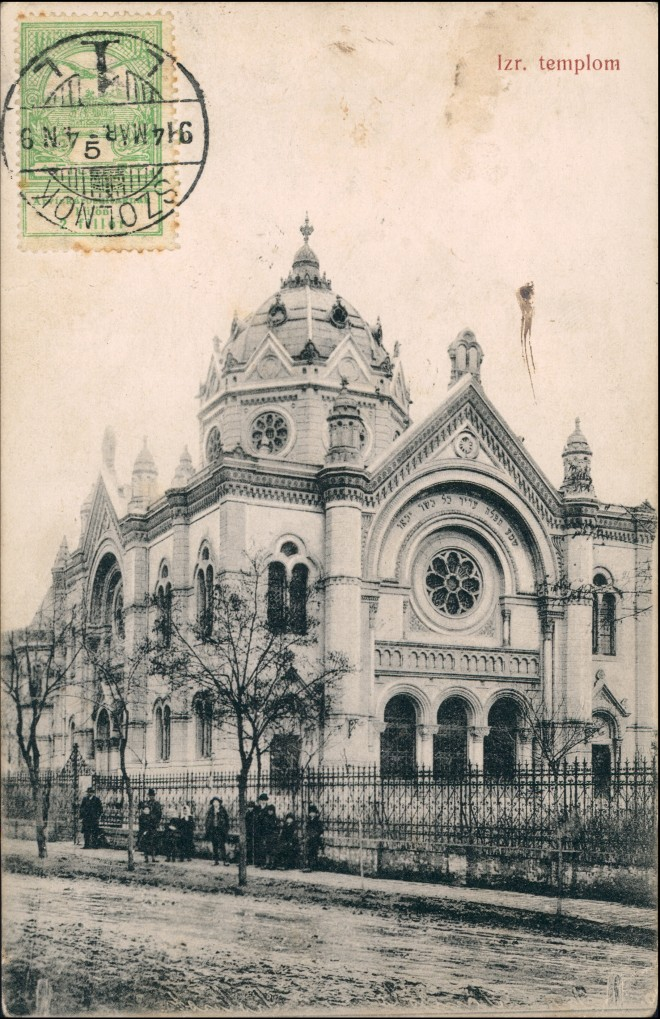 Postcard Sollnock Szolnok Synagoge, Juden Judaika 1913