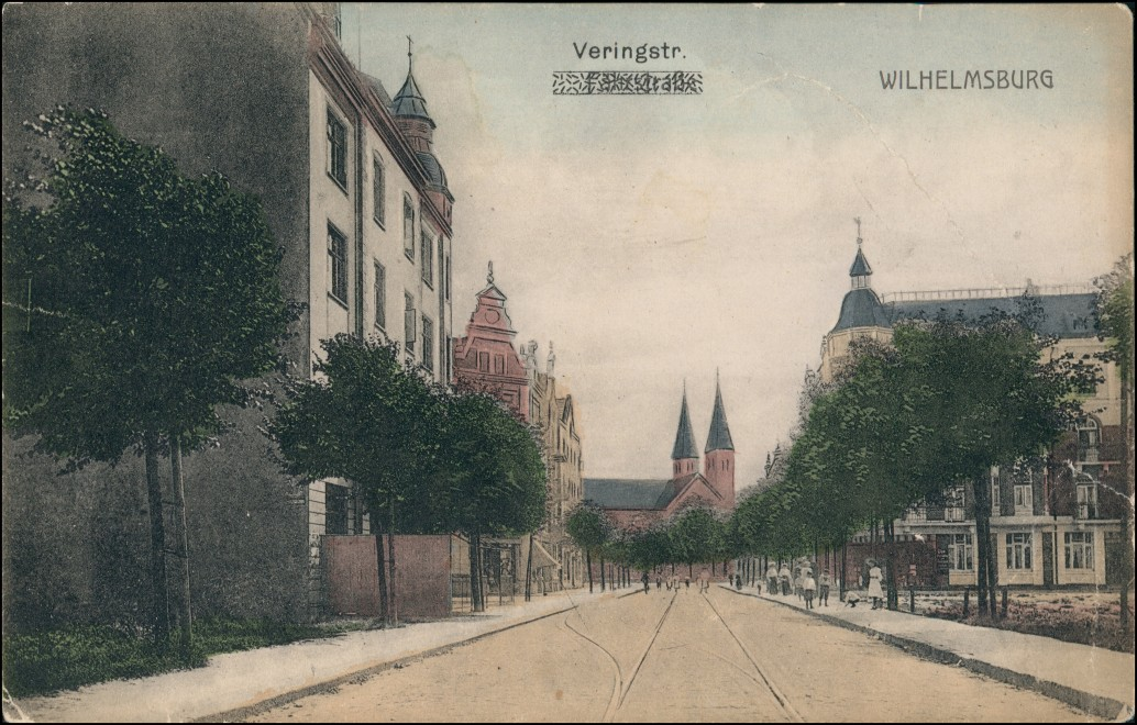 Ansichtskarte Wilhelmsburg-Hamburg Veringstrasse 1909