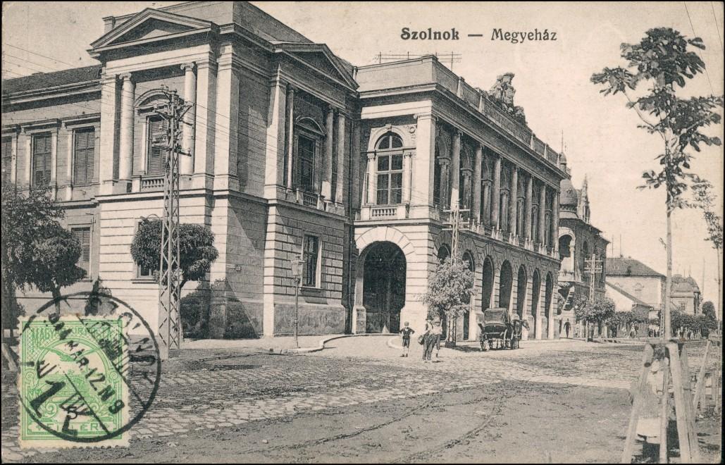 Postcard Sollnock Szolnok Straße Mehyehaz 1912