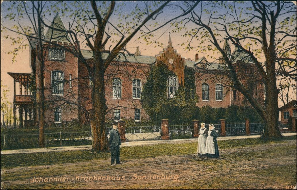 Postcard Sonnenburg (Neumark) Słońsk Johanniter Kurheim 1913