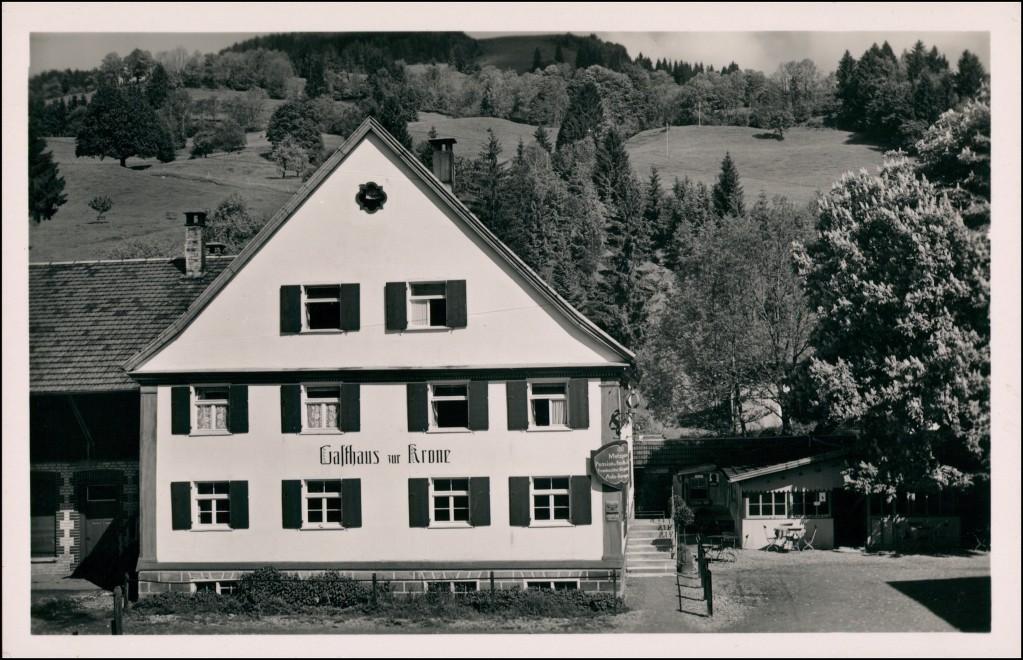 Ansichtskarte Niedersonthofen-Waltenhofen Gasthaus zur Krone 1932