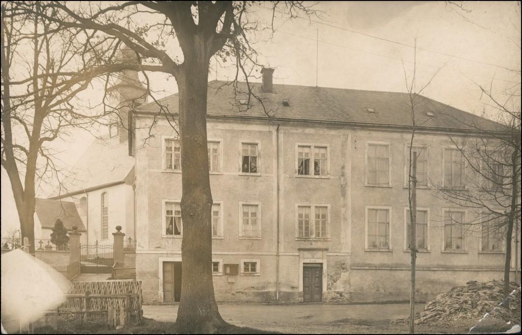 Ansichtskarte Eppendorf (Sachsen) Kirche und Wohnhaus 1914