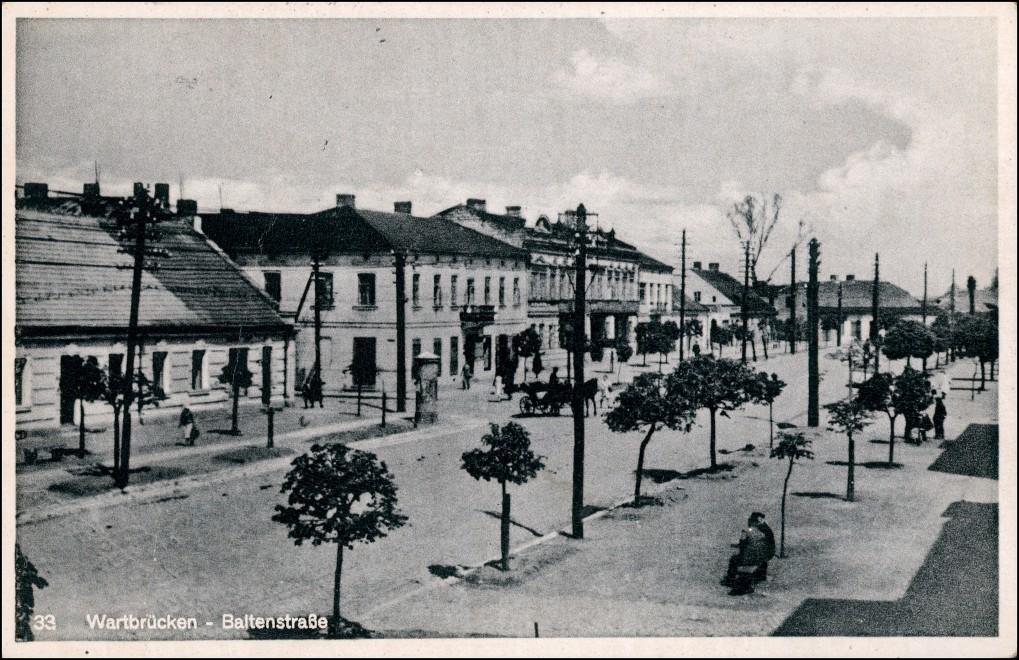 Postcard Wartbrücken (1941–45 Warthbrücken) Koło Baltenstraße Koło (Kolo) 1942