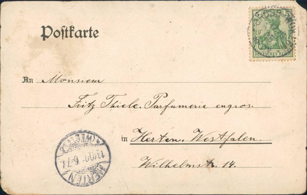 Groß Wokern (Lk Rostock) Dorfstraße, Gasthof, Warenhandlung 1906 1
