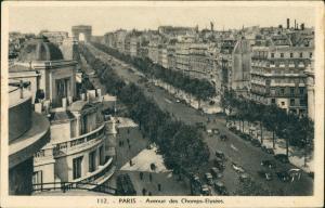 CPA Paris Avenue des Champs-Elysées Strassen Panorama 1940