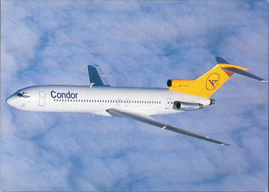 Ansichtskarte  Condor Europa-Jet Boeing 727-200 Flugzeug Airplane 1980