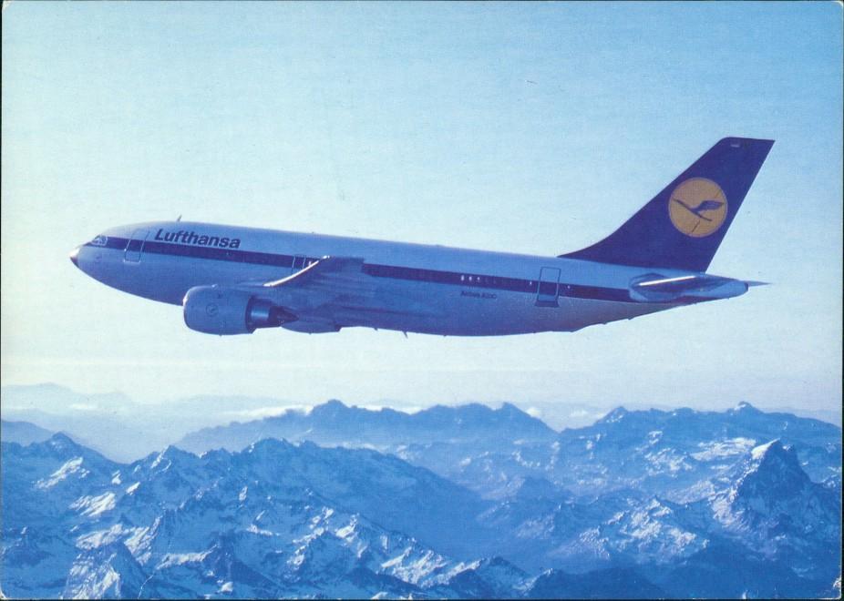 Ansichtskarte  Lufthansa Airbus A310 Flugzeug Airplane Avion 1995