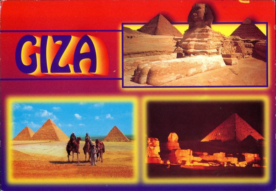 Giseh Gizeh الجيزة Historische Bauwerke Pyramiden Sphinx GIZA Egypt 1995