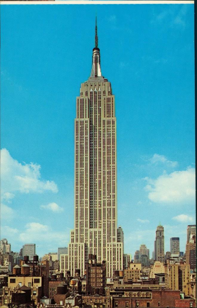 Postcard Manhattan-New York City EMPIRE STATE BUILDING 1970