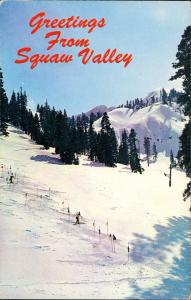Squaw Valley Winter Olympic Games City Ski-Piste Abhang Slalom 1960