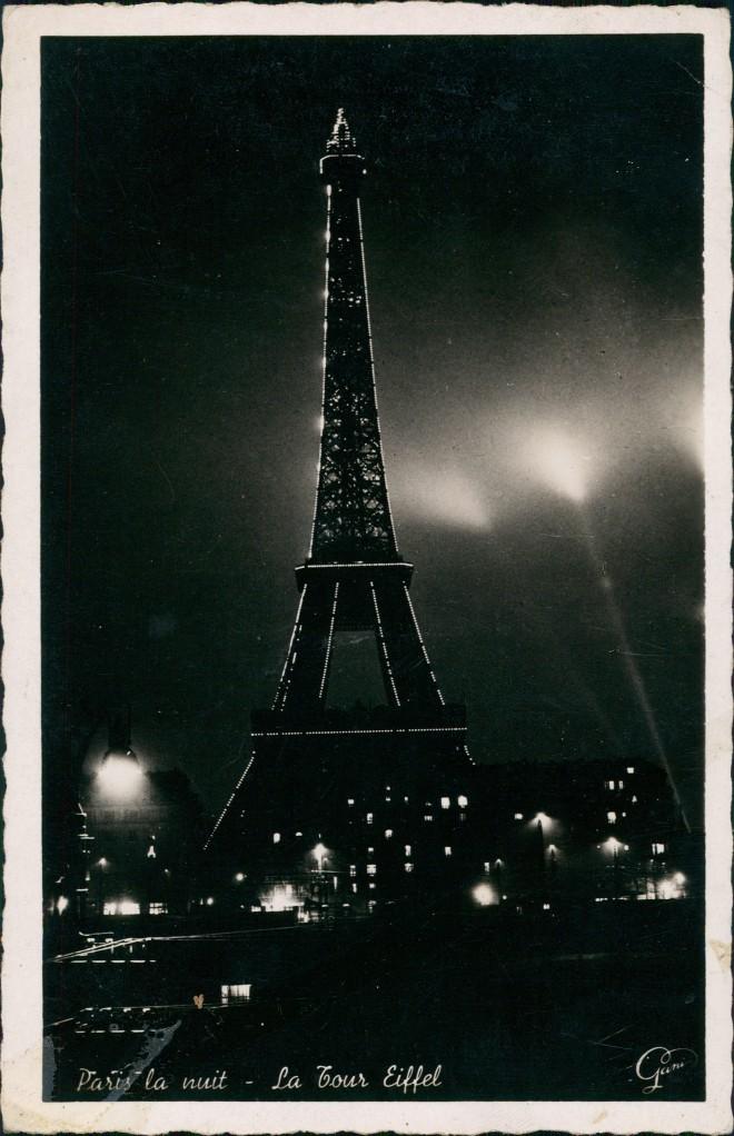 CPA Paris Eiffelturm bei Nacht - Illumination 1937