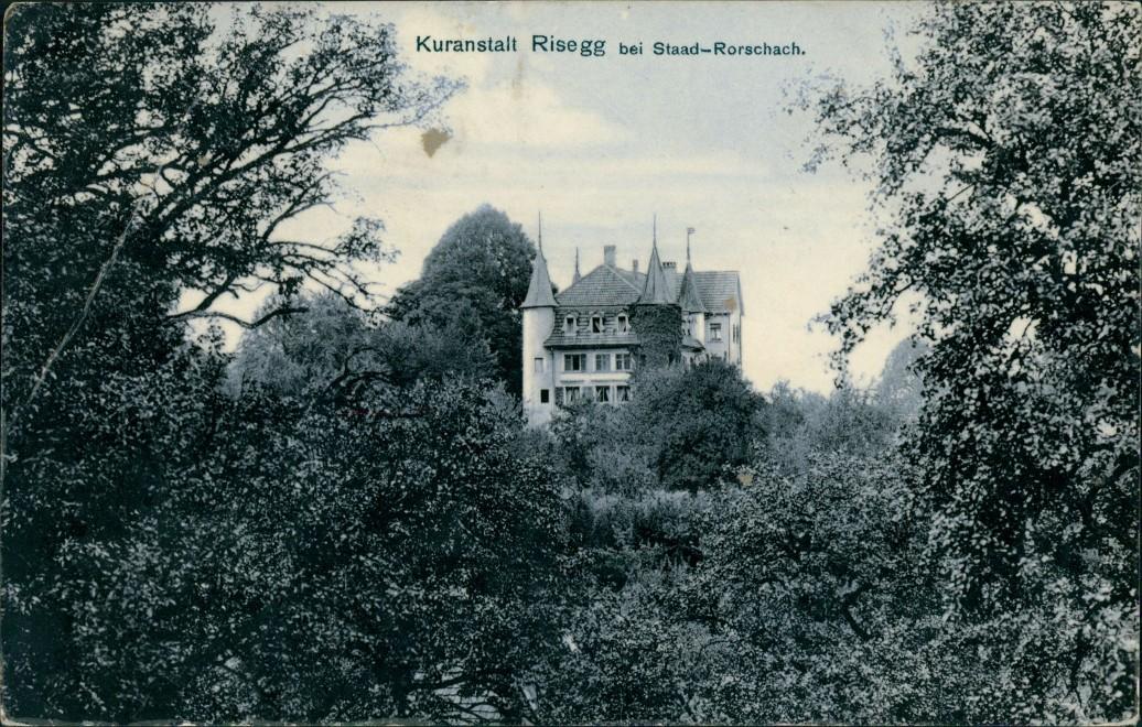 Ansichtskarte Rorschach Kuranstalt Risegg Region Staad-Rorschach 1909