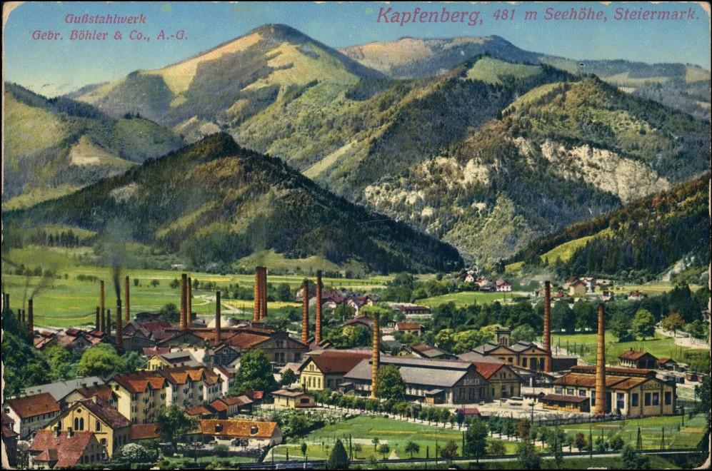 Ansichtskarte Kapfenberg Gußstahlwerk Gebr. Böhler AG 1912