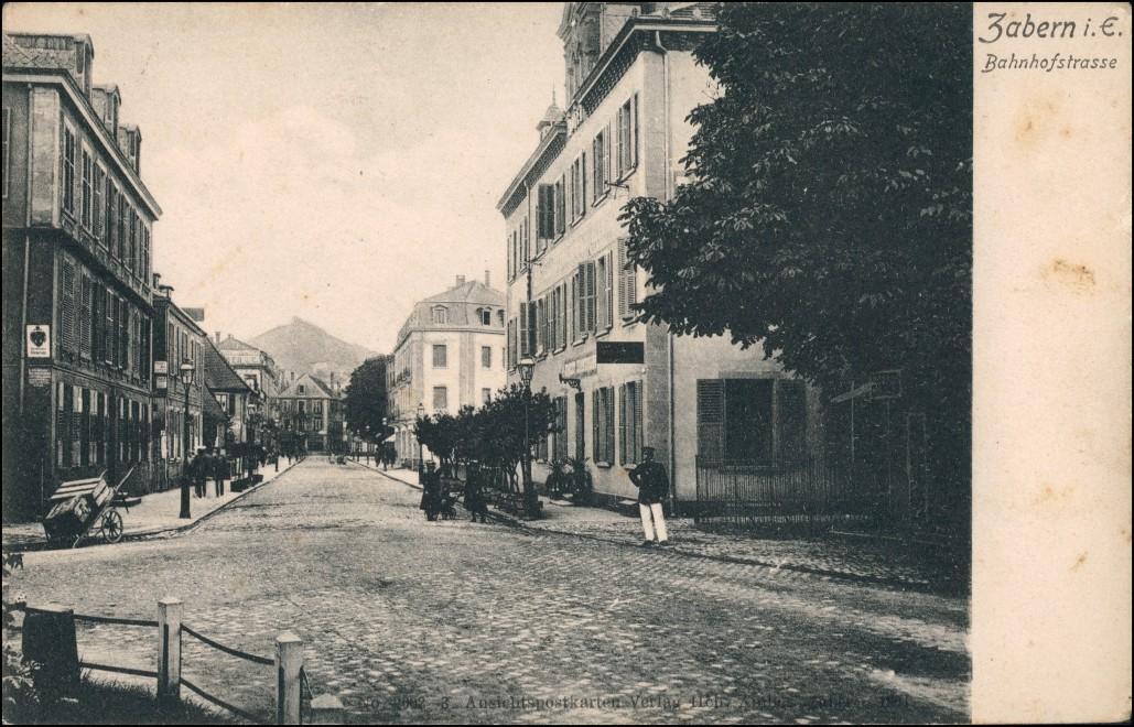 CPA Zabern Saverne Bahnhofstraße 1911