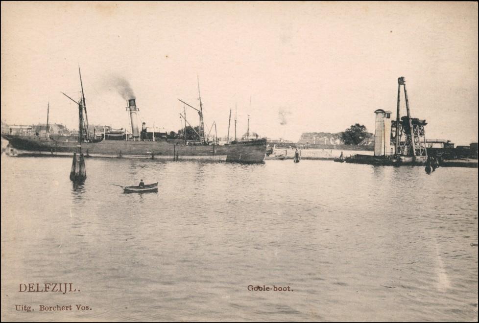 Postkaart Delfzijl Hafen - Dampfer Anlagen 1922
