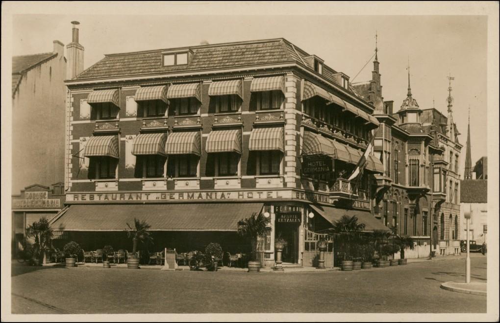 Postkaart Venlo Straße Hotel Germania 1935