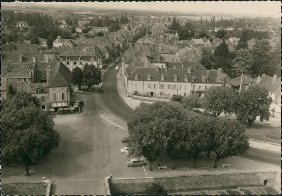 CPA Sennecey-le-Grand Vue générale/Blick von der Kirche 1960