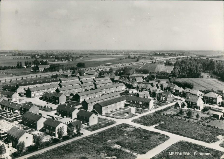 Postkaart Meerkerk-Vijfheerenlanden Panorama Luftbild 1970