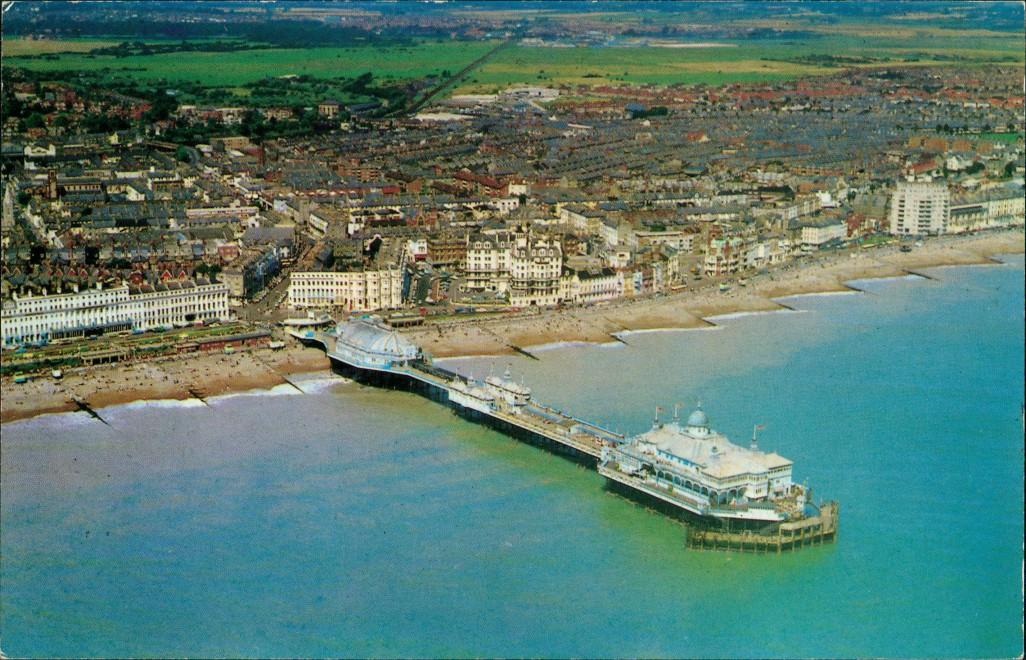 Postcard Eastbourne Luftbild 1980