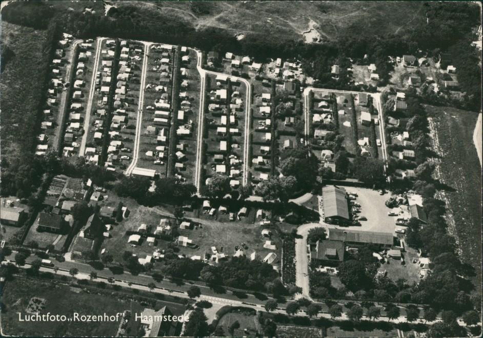 Postkaart Haamstede Luchtfoto Rozenhof 1962