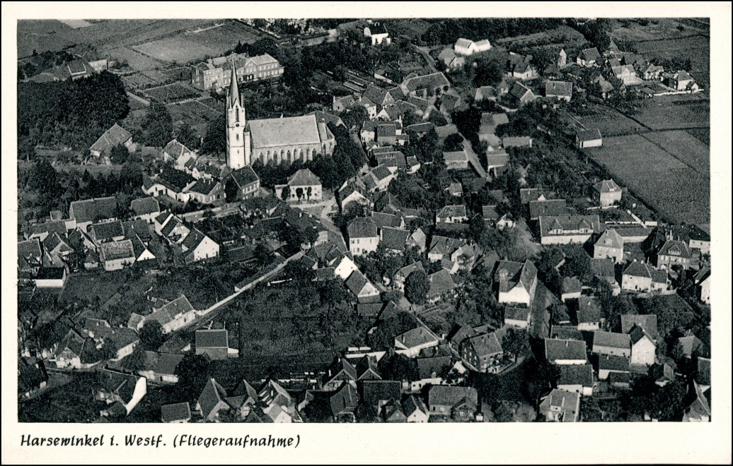 Ansichtskarte Harsewinkel Luftbild 1964