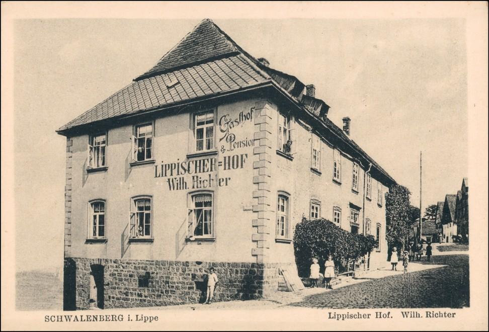 Ansichtskarte Schwalenberg-Schieder-Schwalenberg Lippischer Hof 1921