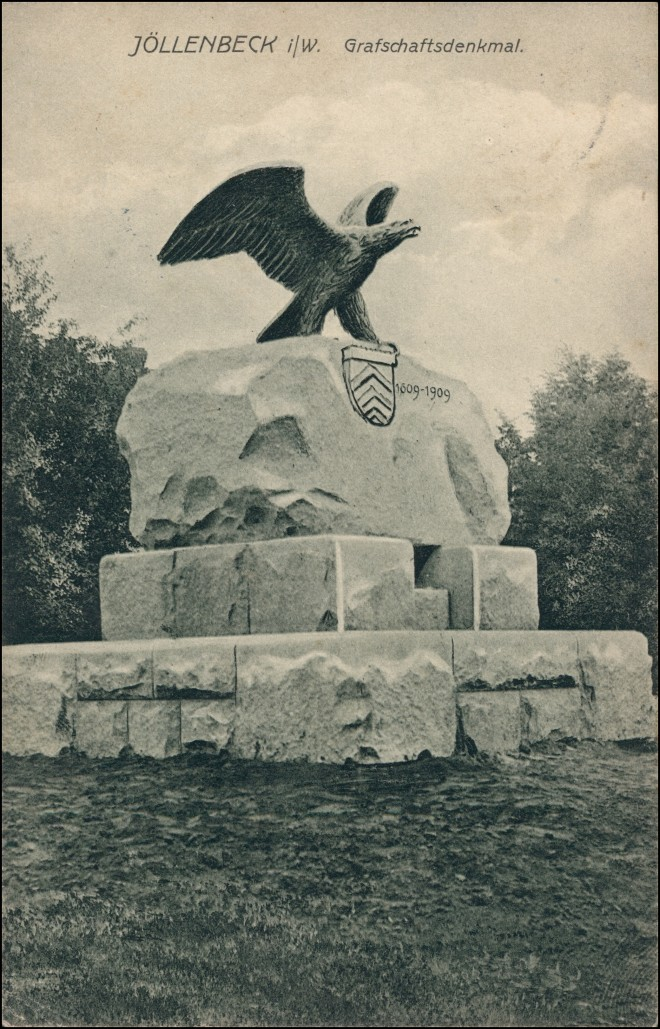 Ansichtskarte Jöllenbeck-Bielefeld Grafschaftsdenkmal 1913