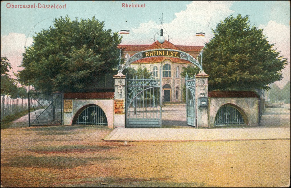 Ansichtskarte Oberkassel-Düsseldorf Gasthaus Rheinlust 1910