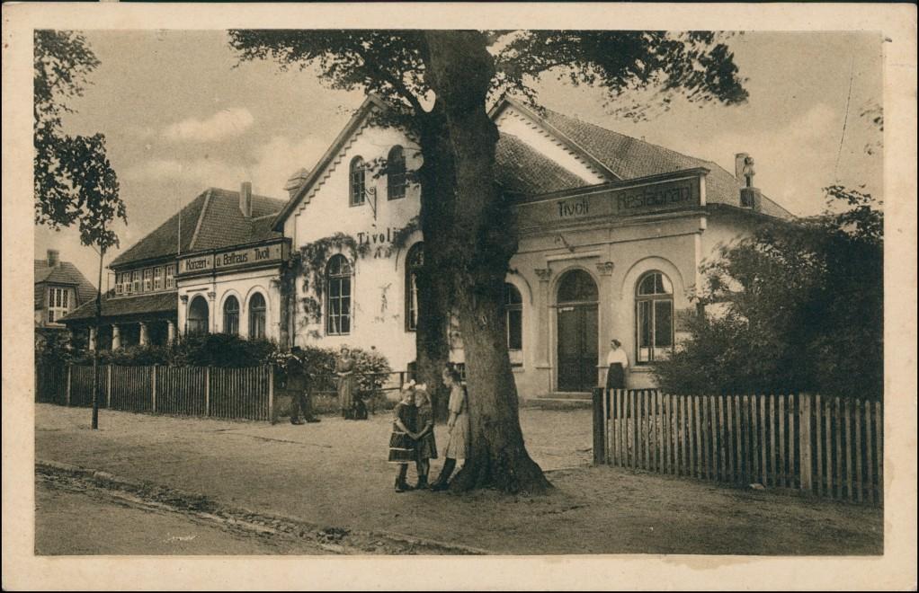 Ansichtskarte Varel Garten-Restaurant Tivoli 1924