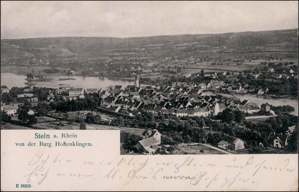 Ansichtskarte Stein am Rhein Blick auf die Stadt 1909
