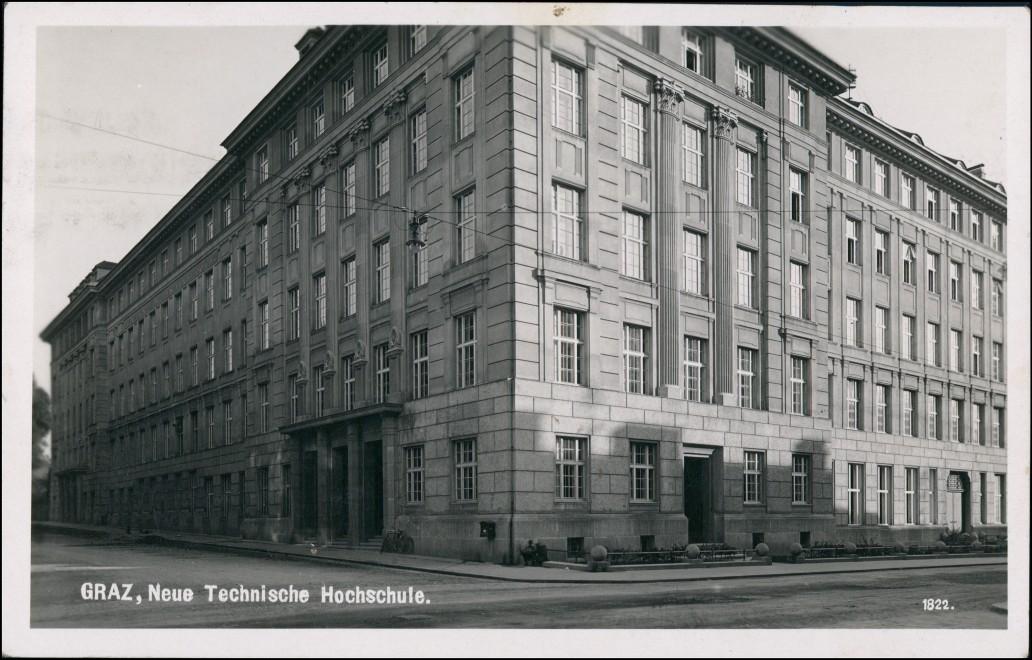 Ansichtskarte Graz Straße Technische Hochschule 1951