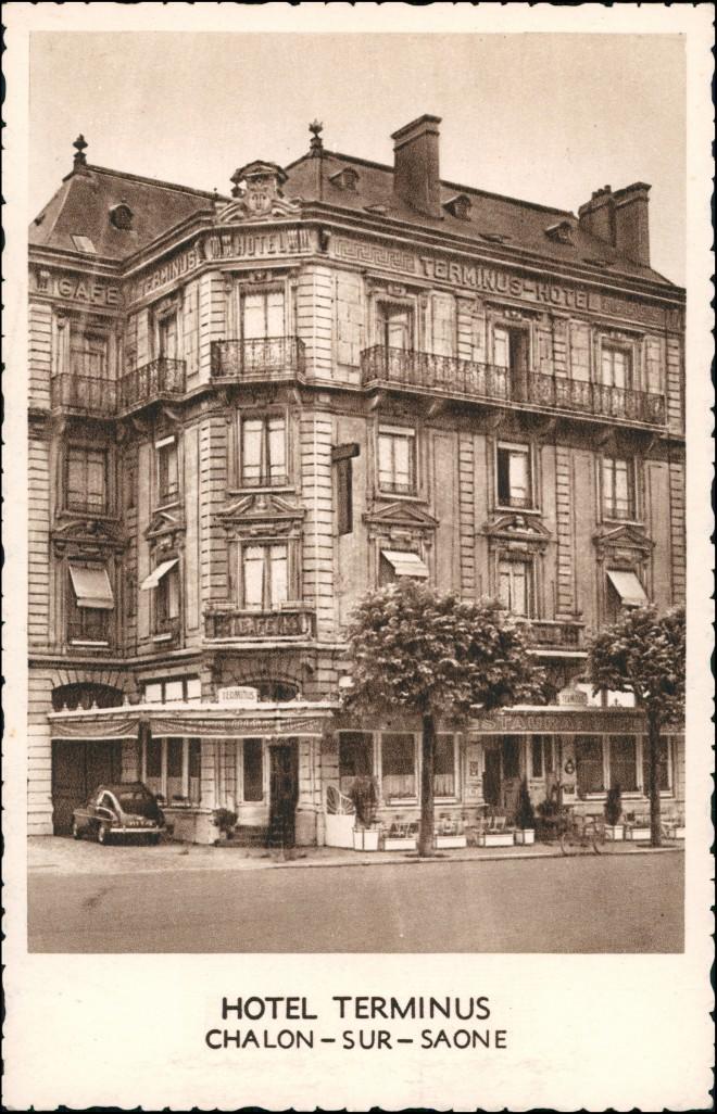 Chalon-sur-Saone Chalon-sur-Saône Hotel Terminus Avenue Jean Jaures 1934