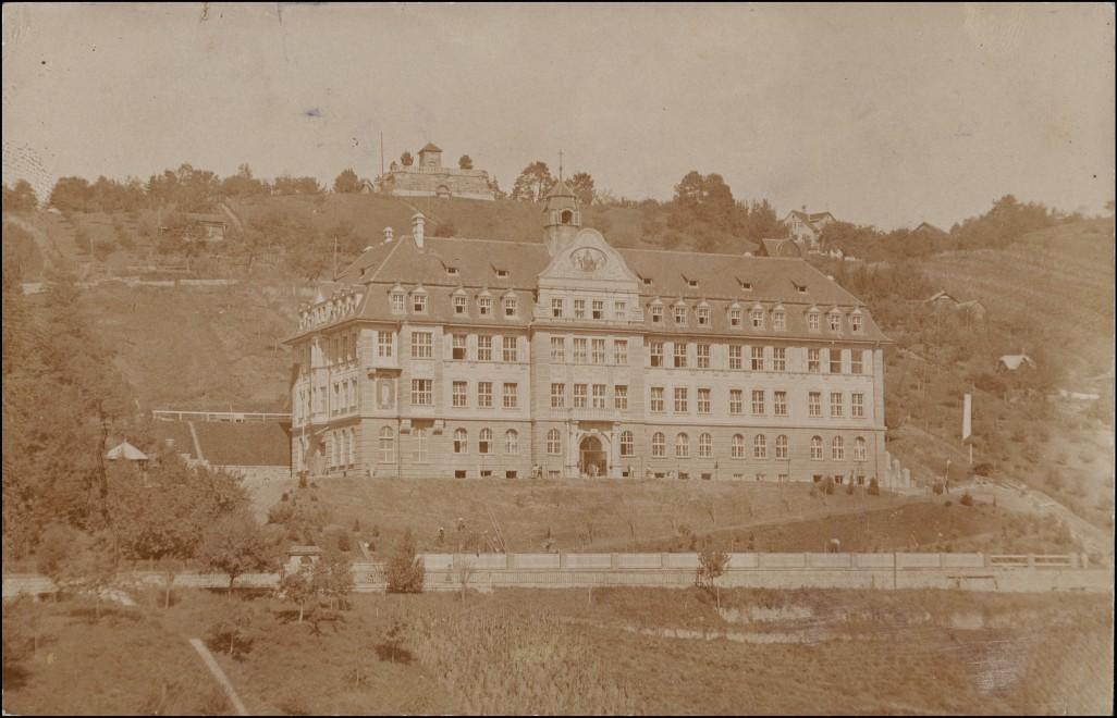 Ansichtskarte Feldkirch Hangpartie, Gebäude - Straße 1911