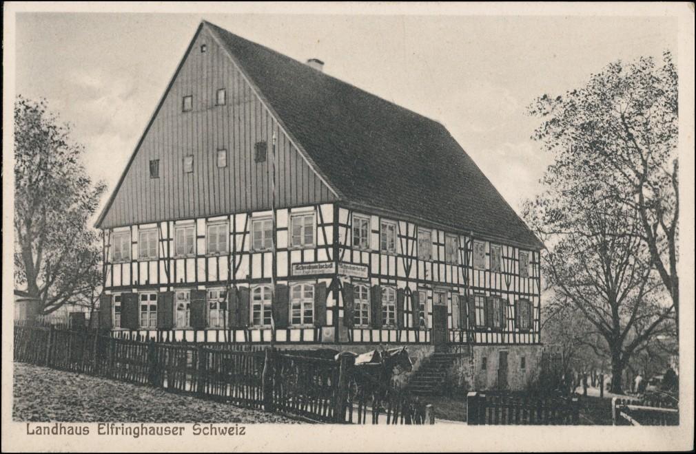Ansichtskarte Oberelfringhausen-Hattingen Landhaus Elfrinhauser Schweiz 1923