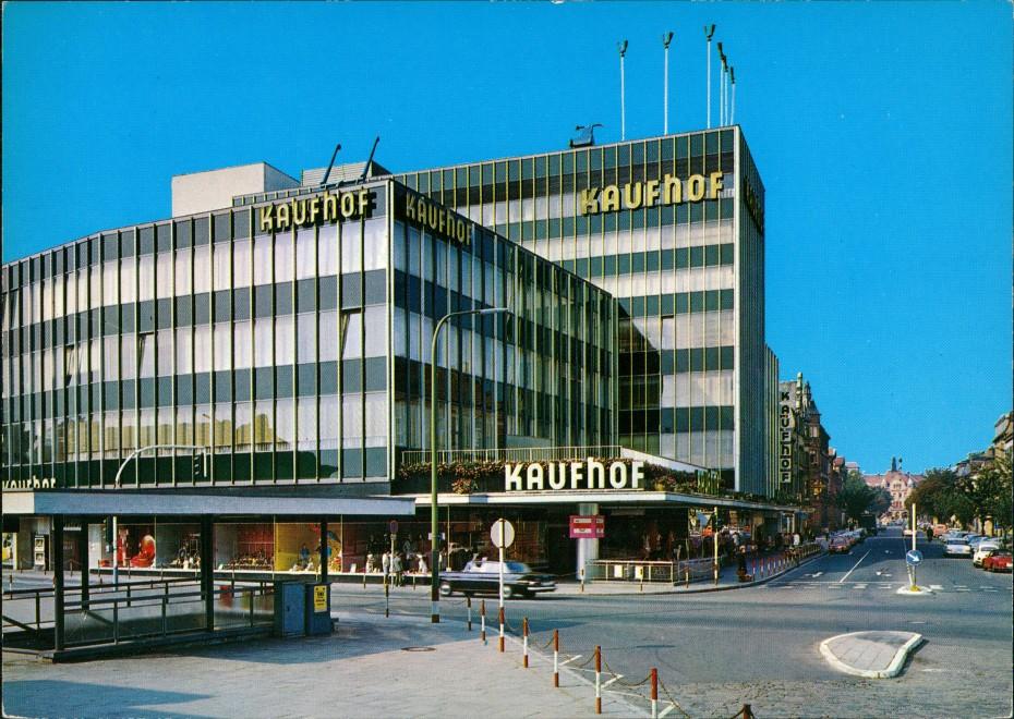 Landau in der Pfalz Strassen   KAUFHOF, Warenhaus, Kreuzug Verkehr 1978