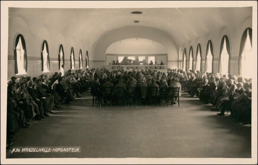 Ansichtskarte Bad Hofgastein Wandelhalle, Konzert belebt 1930