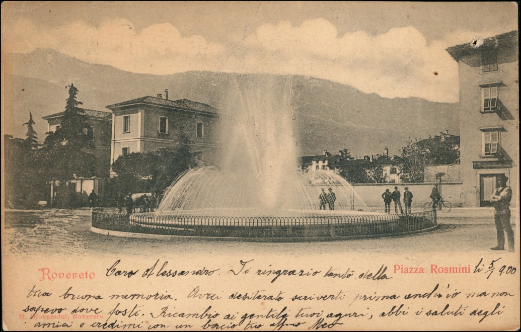 Cartoline Rovereto Stadtpartie 1900