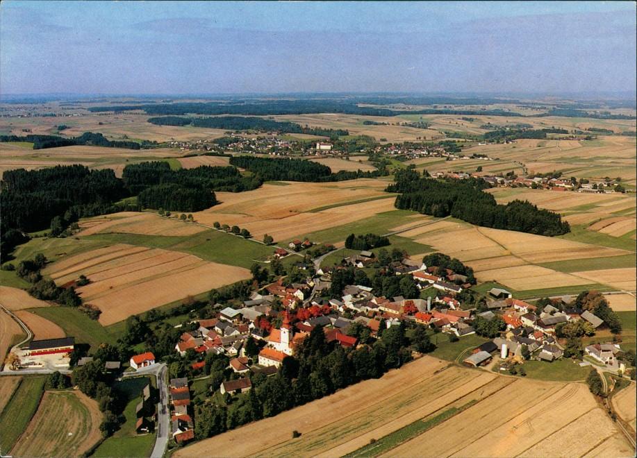 Großhaselbach Luftaufnahme Gr. Haselbach 20 vom Flugzeug aus Aerial View 1975