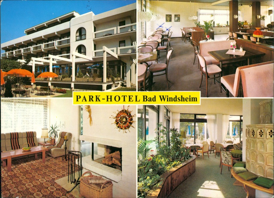 Ansichtskarte Bad Windsheim 4 Bild: Parkhotel 1983