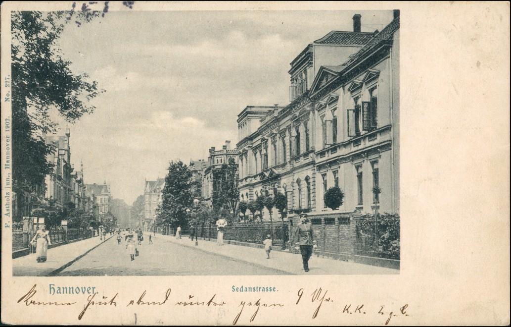 Ansichtskarte Hannover Sedanstraße 1912