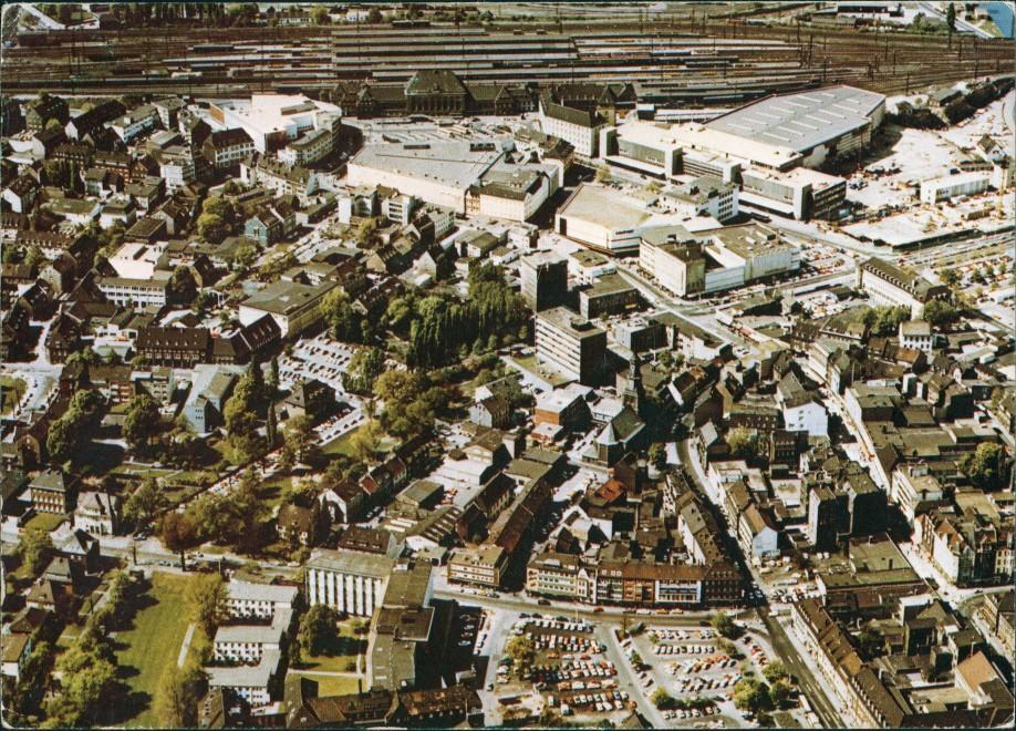 Hamm (Westfalen) Luftbild Luftaufnahme Innenstadt mit Einkaufszentrum 1978