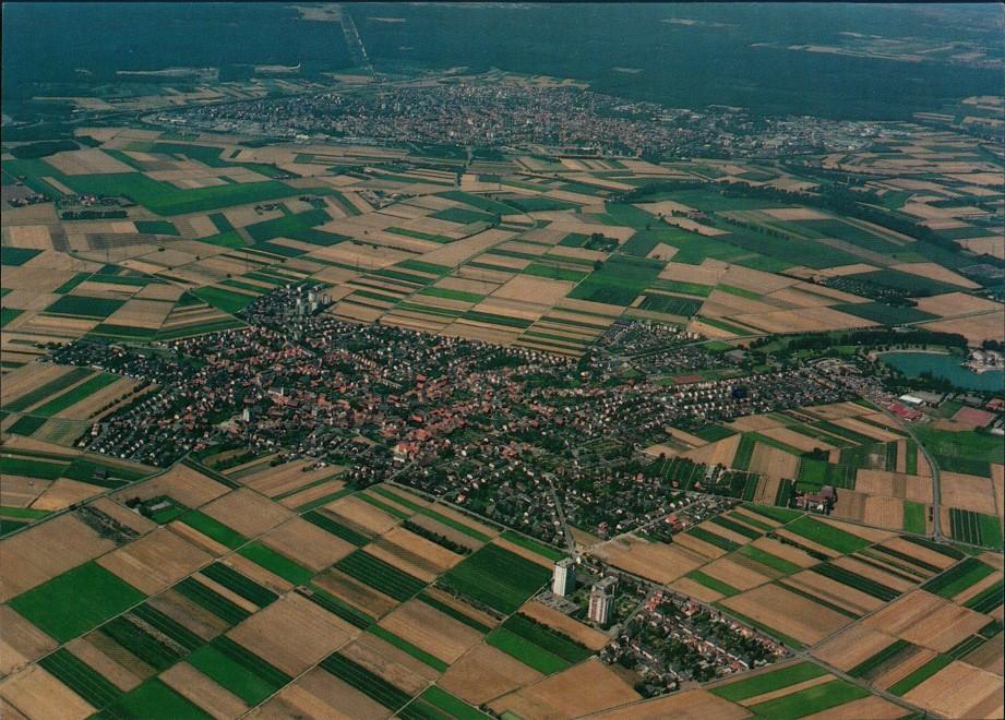Heddesheim Heddesheim Baden Region vom Flugzeug aus Luftaufnahme 1999/1975