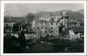 Ansichtskarte Hallein zerstörte Fabrik - Stadt 1946