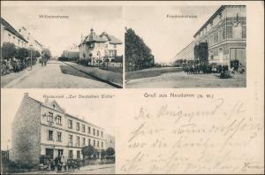 Postcard Neudamm (Neumark) Dębno Wilhelmstraße, Restaurant 1910