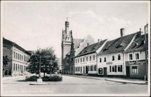 Ansichtskarte Güsten Geschäfte Marktplatz 1940