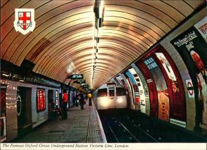 London Oxford Circus Underground Station Victoria Line (U-Bahn, Bahnhof)) 1970