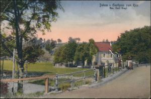 Ansichtskarte Dohna Gasthaus zum Kux  b Dresden Heidenau  1923